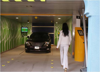 Easy exit from the Robotic Parking Systems garage.