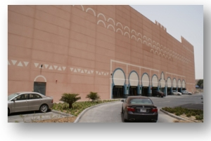 Facade for Ibn Battuta automated garage in Dubai.