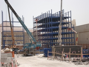 Robotic Parking Systems - Erecting the Steel Frame