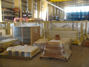 Robotic Parking Systems - Equipment Prepared for Shipment