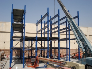 Robotic Parking System - Erecting the Steel Frame