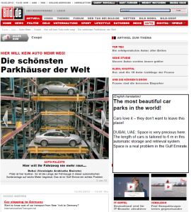 Robotic Parking Systems reported as one of the most beautiful car parks in the world!