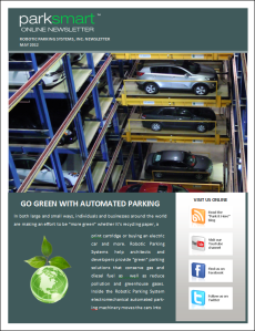 Robotic Parking Systems May 2012 ParkSmart Newsletter