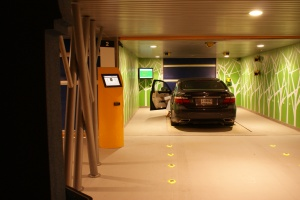 Robotic Parking System Entry / Exit Terminal - Lighting Requirements in the Evening