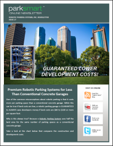 ParkSmart – Robotic Parking Systems' Newsletter Issue 27