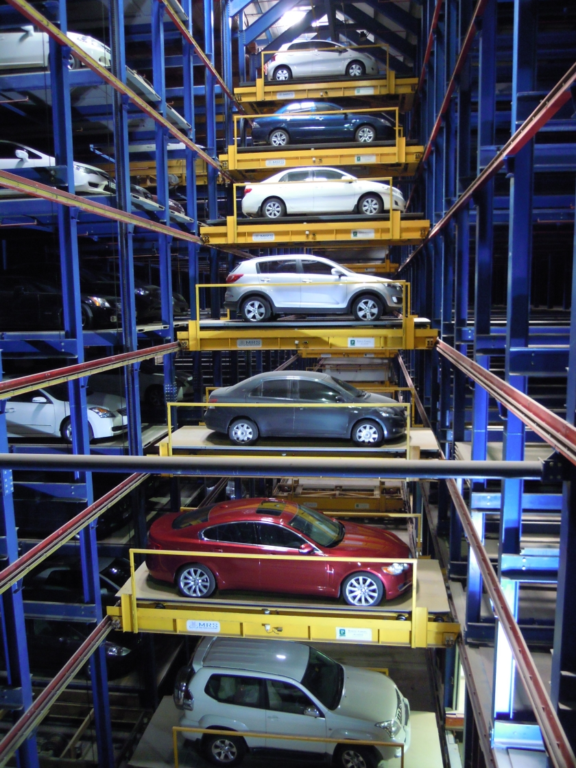 Robotic Parking System Interior