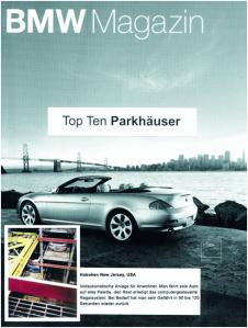 BMW Magazine - Robotic Parking Systems