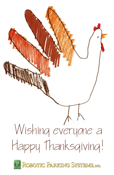 Happy Thanksgiving from Robotic Parking Systems Inc