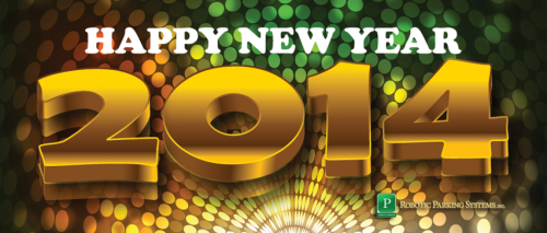 Happy New Year 2014 from Robotic Parking Systems