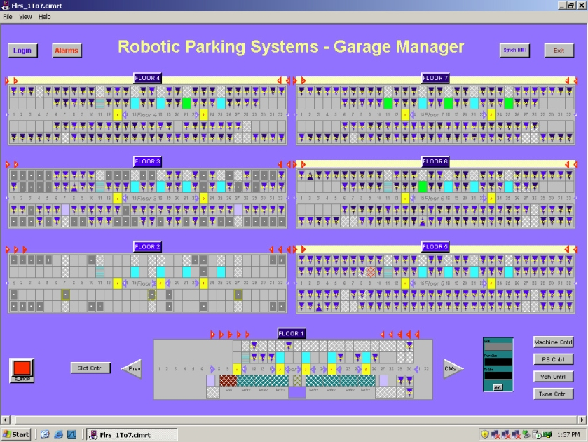 Robotic Parking Systems Garage Manager