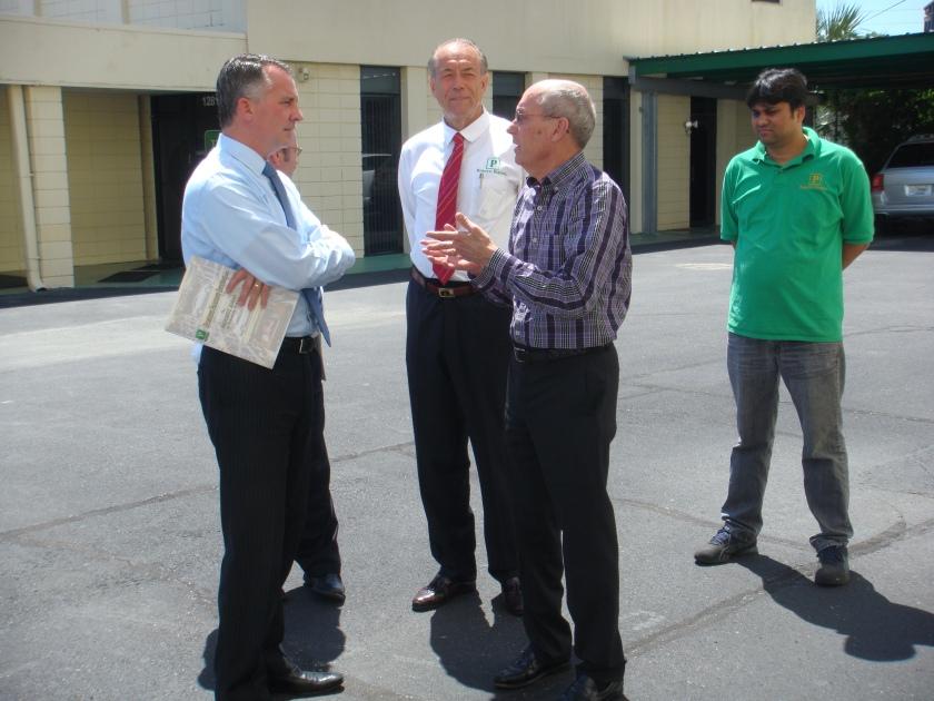 US Congressman David Jolly at Robotic Parking Systems.