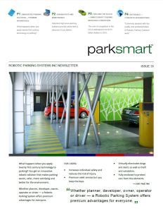 Robotic Parking Systems Newsletter