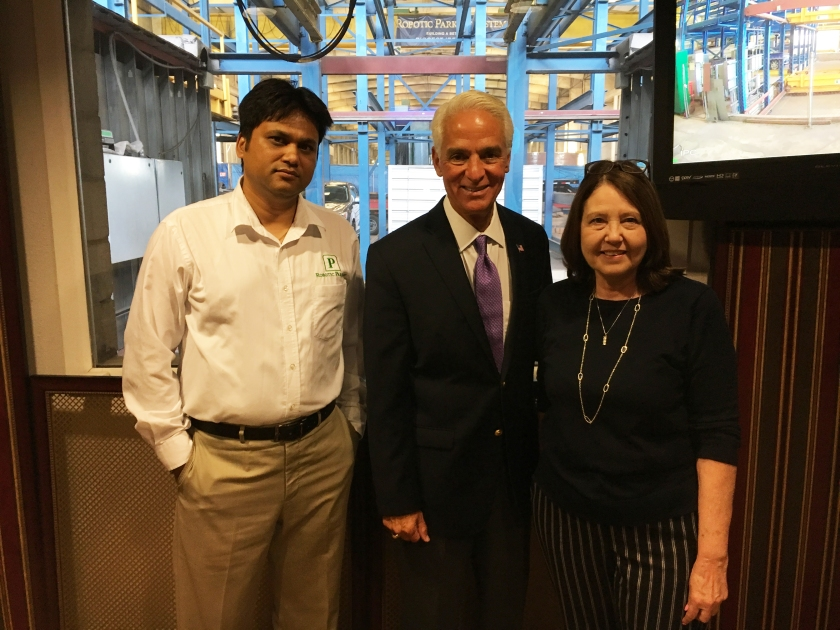 Congressman Charlie Crist Visits Robotic Parking Systems