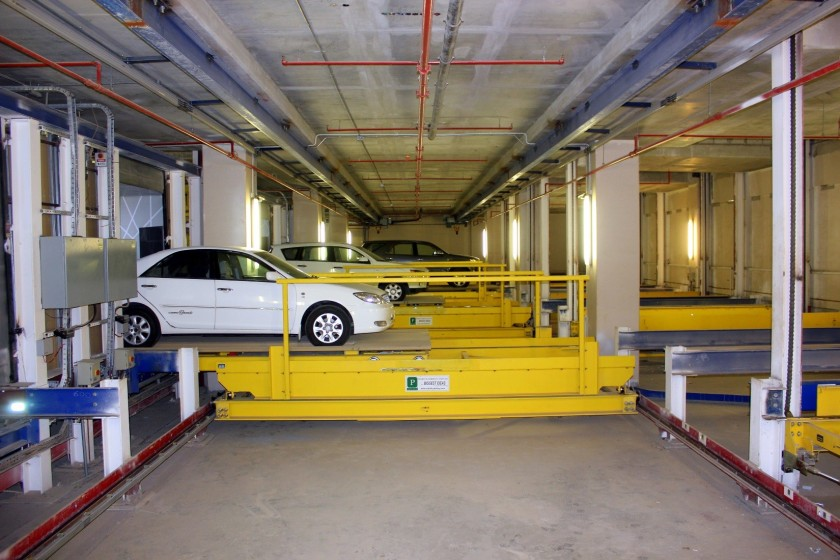 Al Jahra automated parking garage