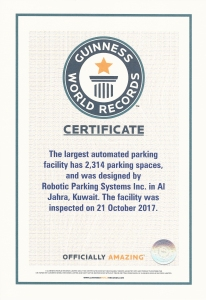 Robotic Parking Systems Guinness World Record