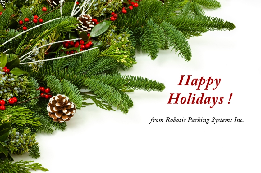 Happy Holidays from Robotic Parking Systems.